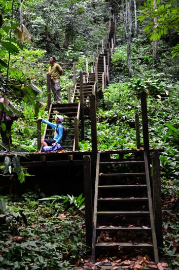 Staircase to Lobang Lelong Cave