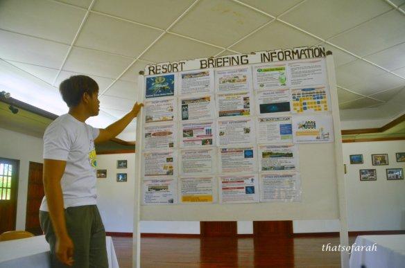Borneo Divers Mabul Resort briefing