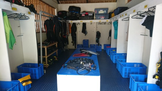 Dive gear room