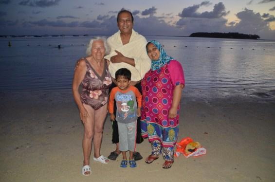 Meeting locals in Mauritius