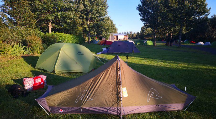 Camping at Laugardalur Campsite, Reykjavik