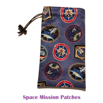 Drawstring Bag Space Mission Patches