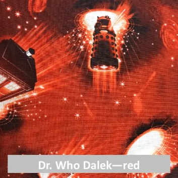 Dr. Who Dalek red fabric