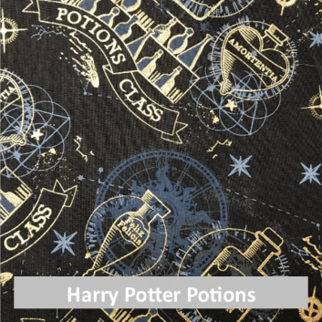 Harry Potter potions fabric