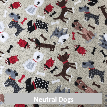 neutral dogs fabric