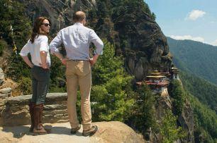 The-Duke-and-Duchess-of-Cambridge-overlook-the-Tigers-Nest-Monastery-near-Paro-Bhutan