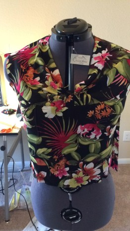 Front of Completed Bodice