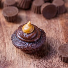 gluten-peanut-butter-cup cupcake