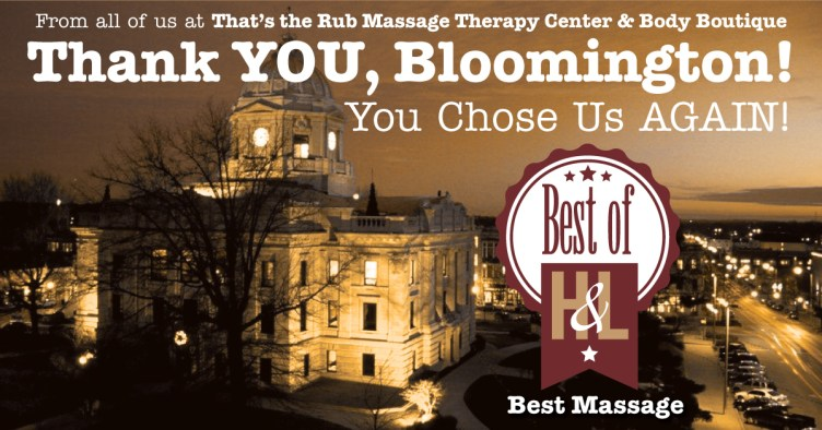 H&L Magazine Named Us the BEST MASSAGE in South-Central Indiana!