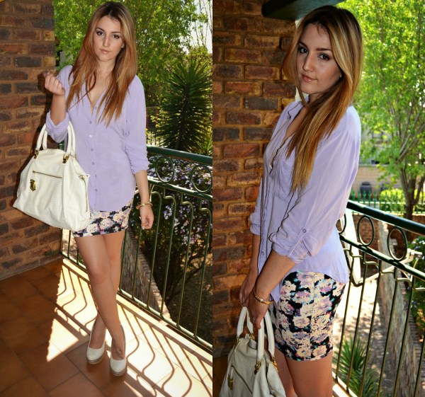 Shirt from Mr Price Fashion | Skirt from Bershka | Bag from Steve Madden | Wedges from Call It Spring