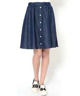 button skirt xgirl