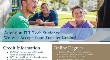 San Diego Christian College Accepting ITT Transfer Credits