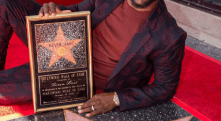 Kevin Hart Received Start on The Hollywood Walk of Fame!
