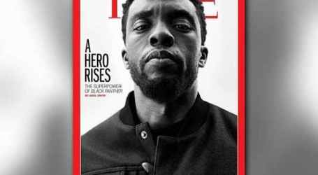'BLACK PANTHER' STAR CHADWICK BOSEMAN GRACES TIME MAGAZINE COVER, FIRST TIME EVER FOR MARVEL MOVIE