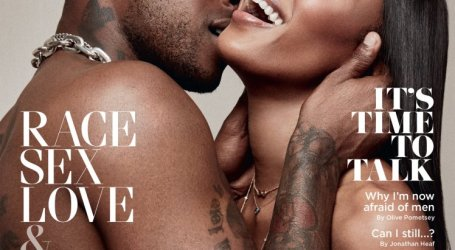 Skepta and Naomi Campbell pose topless for GQ magazine
