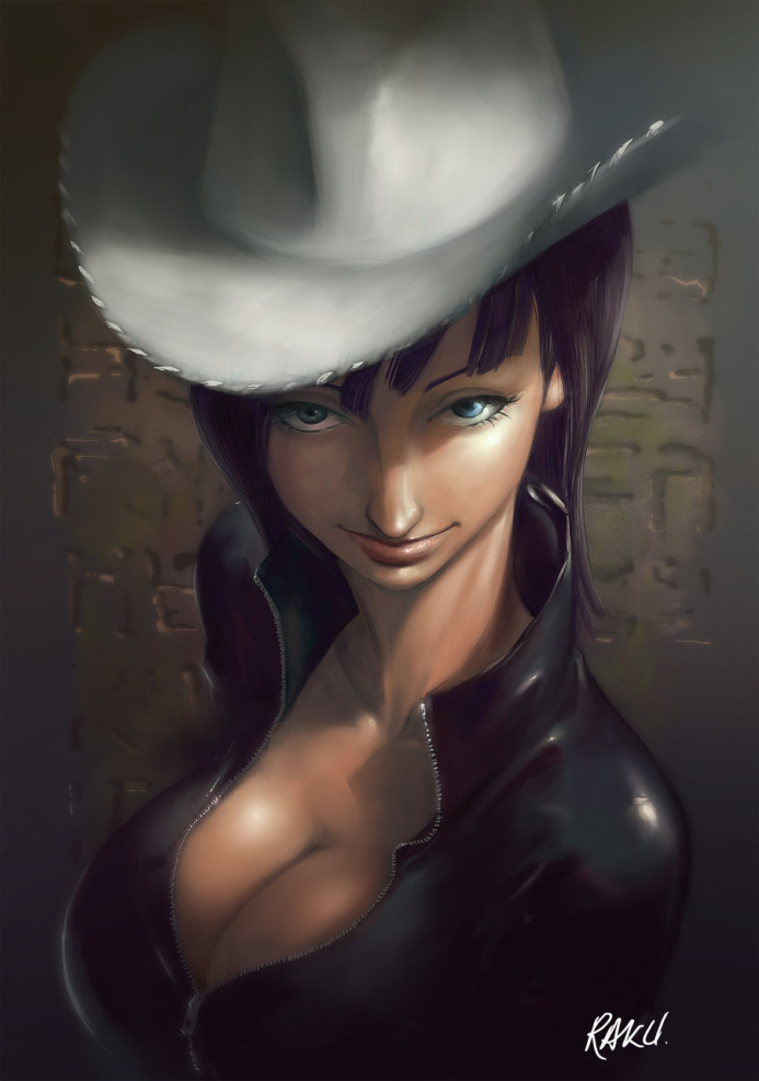 Nico Robin caricature with hat