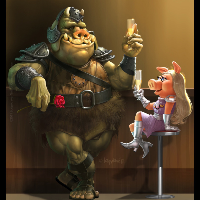 pimp gamorrean x Miss Piggy