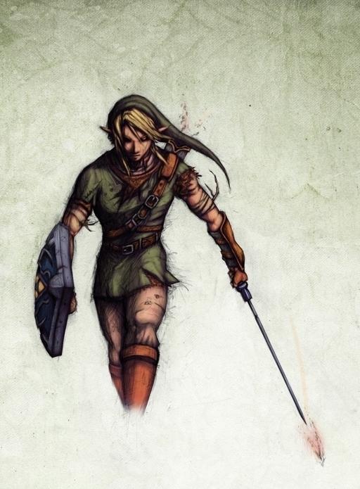 Link looks badass Part II: Smokey Art style