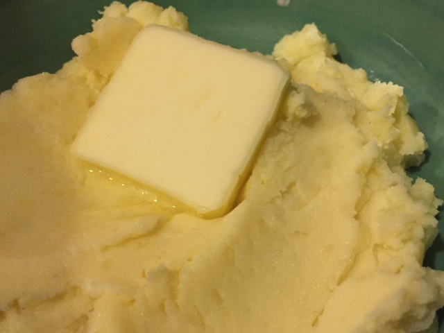 Gruyere- Parmesan Mashed Potatoes with Roasted Garlic