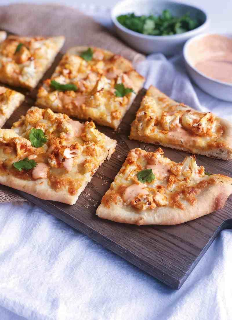 Buffalo Cauliflower Pizza