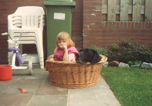 When I was still a kid I just to play with our dog