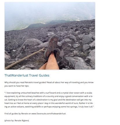 Favoroute, ThatWanderlust Travel Guides / July 2014