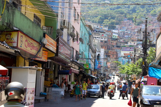 The streets of Rocinha