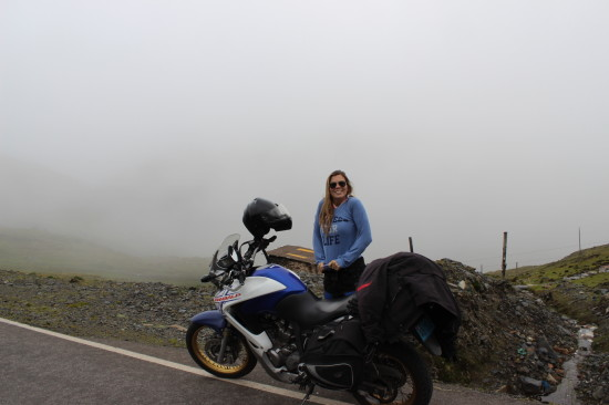 Getting ready for to ride through the clouds...
