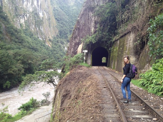 The train rail track between Aguas Calientes and Hydroelectrica