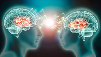 Image showing two minds connecting
