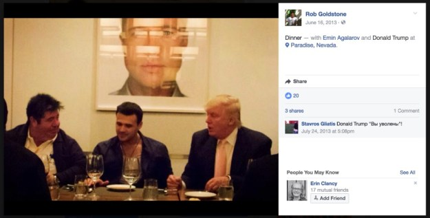 Goldstone, Agalarov, and Trump in Las Vegas, June 15, 2013