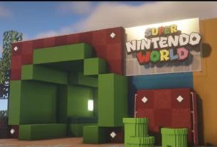 Most of us won't be able to visit Super Nintendo World, so someone's making it in Minecraft 3