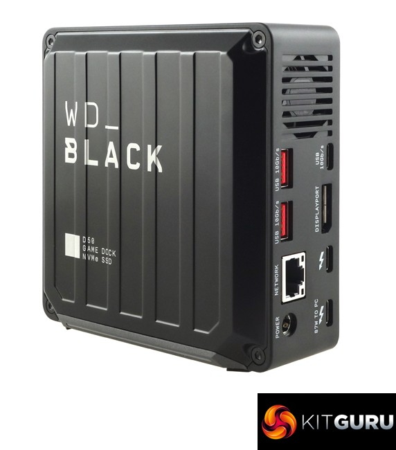 Western Digital's Shiny Black D50 Game Dock 1