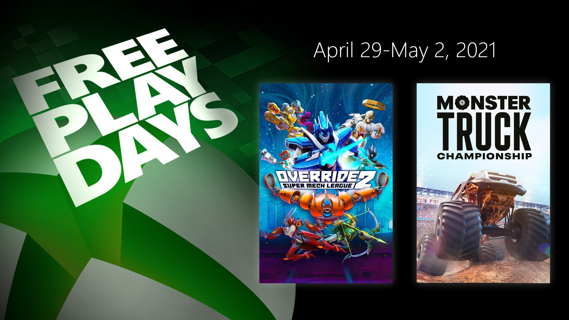 Free Play Days – Override 2: Super Mech League and Monster Truck Championship 1