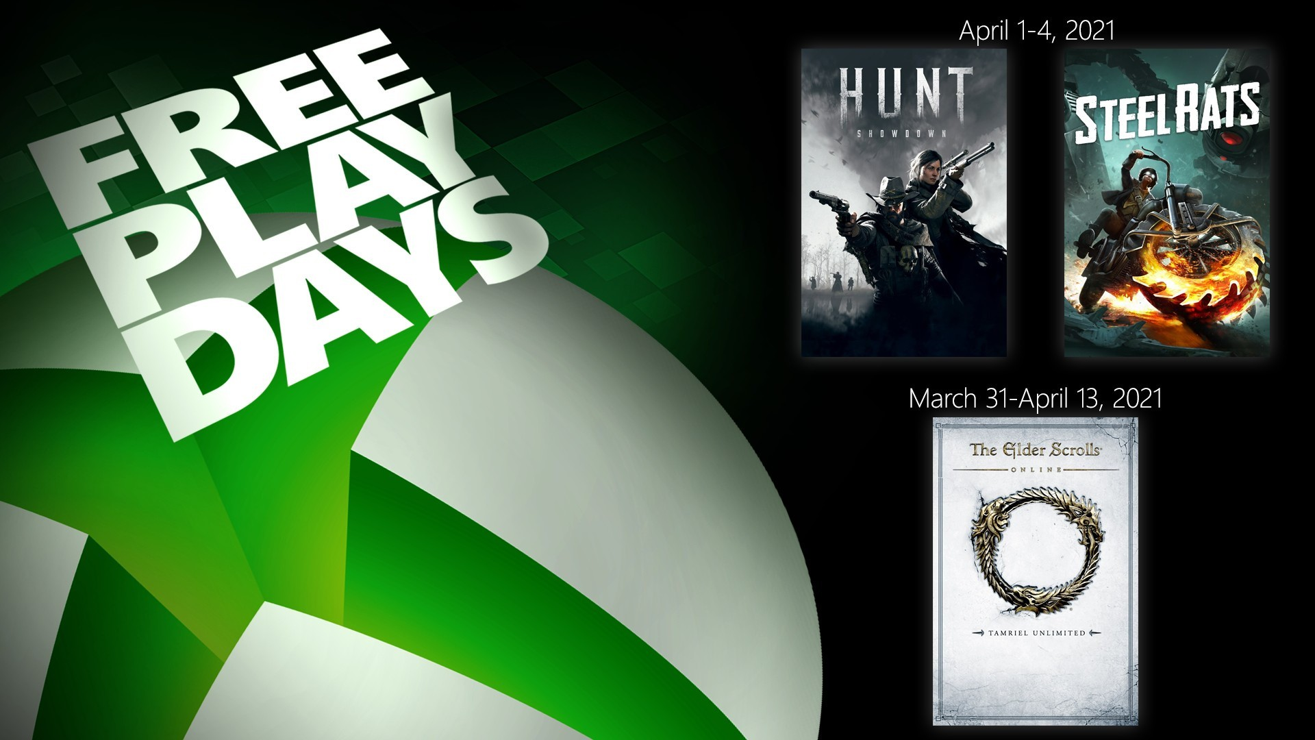 Free Play Days – The Elder Scrolls Online Tamriel Unlimited, Hunt: Showdown, and Steel Rats 1