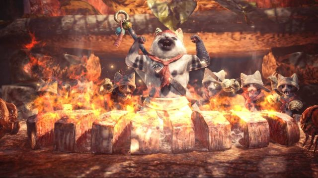 Watch YouTuber Babish make the chef's choice platter from Monster Hunter: World A cat chef flexes his muscles over burning meat 2