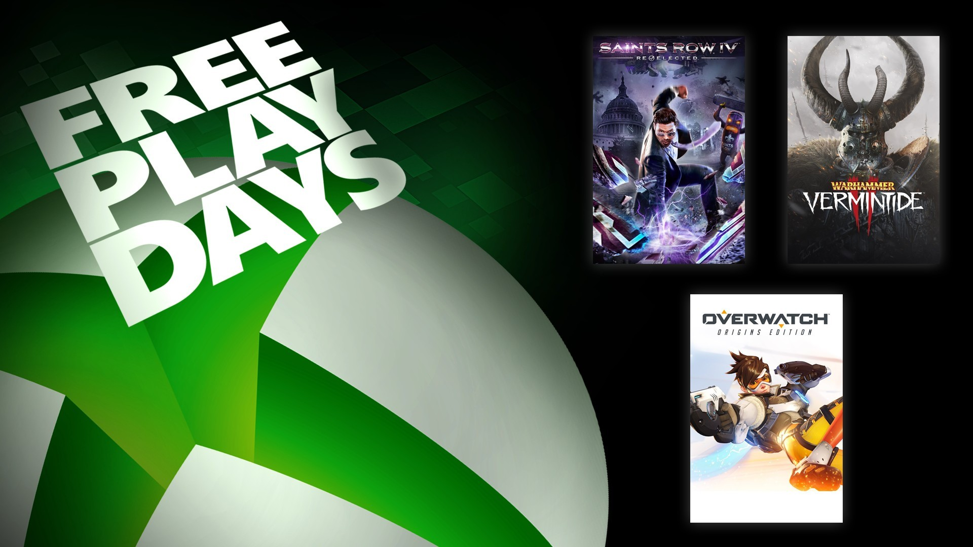 Free Play Days – Saints Row IV: Re-Elected, Overwatch Origins Edition, and Warhammer: Vermintide 2 1
