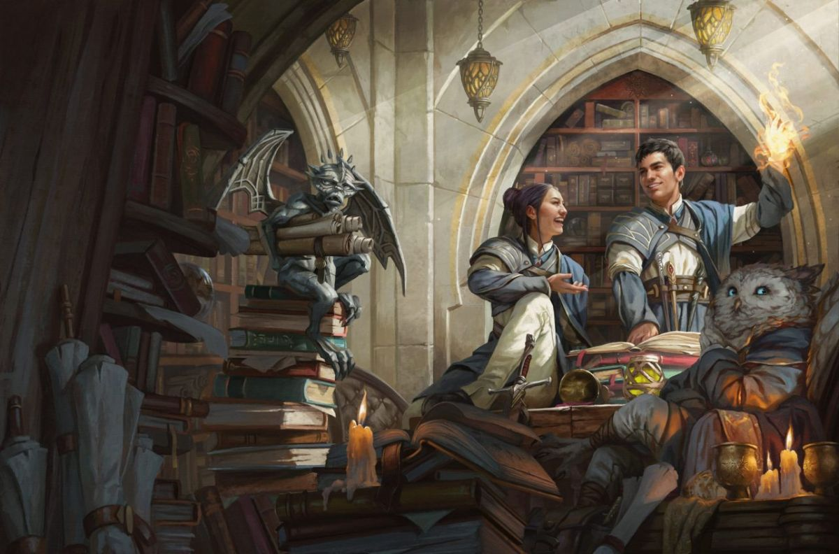 Magic: The Gathering's wizard school Strixhaven is coming to D&D Student wizards on the cover of Strixhaven: A Curriculum of Chaos 1