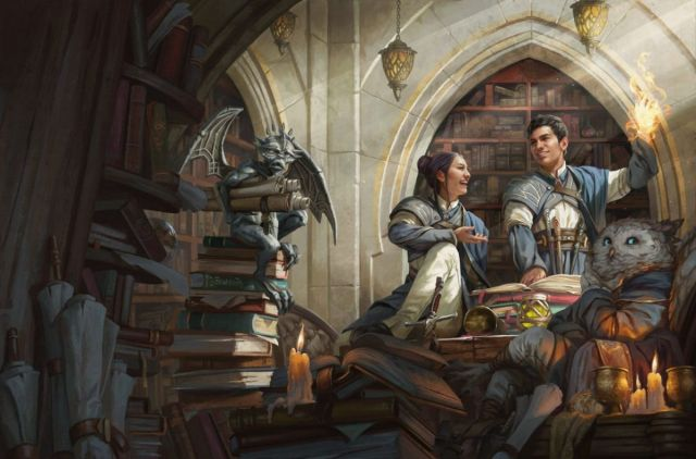 Magic: The Gathering's wizard school Strixhaven is coming to D&D Student wizards on the cover of Strixhaven: A Curriculum of Chaos 2