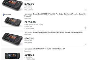 Steam Deck scalpers are trying it on - despite Valve's anti-scalping efforts 4