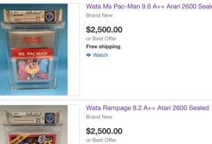Co-Founder Of Game Grading Service WATA Accused Of Selling Company's Games On eBay 3