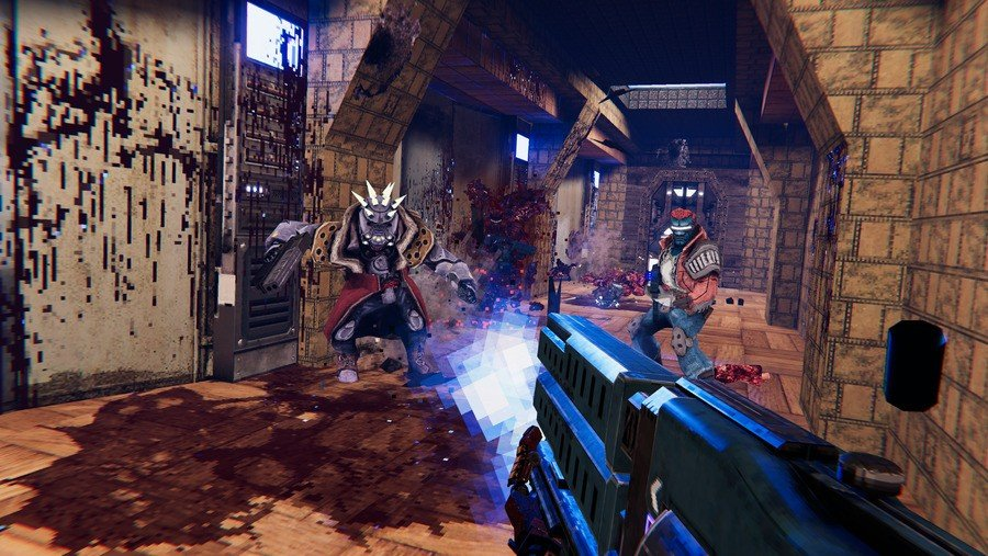 """Turbo Overkill Brings Ultraviolent Cyberpunk FPS Action To Switch In 2022, And It's Got A """"Chainsaw Leg"""" 1"""