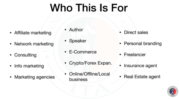 Who is This For ? -Internet traffic Academy
