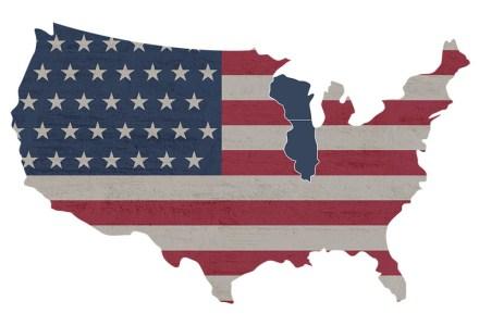 USA map- WI & IL