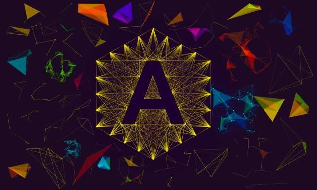 Plexus 3D logo effects rendered with Plexus Maker plugin for Adobe Photoshop
