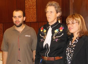 Temple Grandin with Noah and Dani