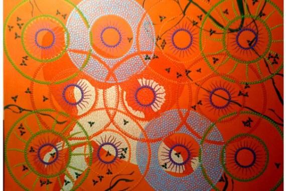 Sacred Mandala Stone /'The Journey In/'