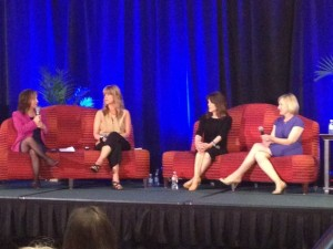 Elaine Hall, Mari-Anne Kehler, Marianne Williamson, and Laura Shumaker at the FRED Conference
