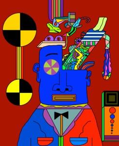 "James Frye ""Blue Meanie's Brains"""