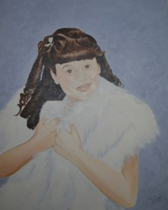 Maria Iliou painting of her daughter Athena